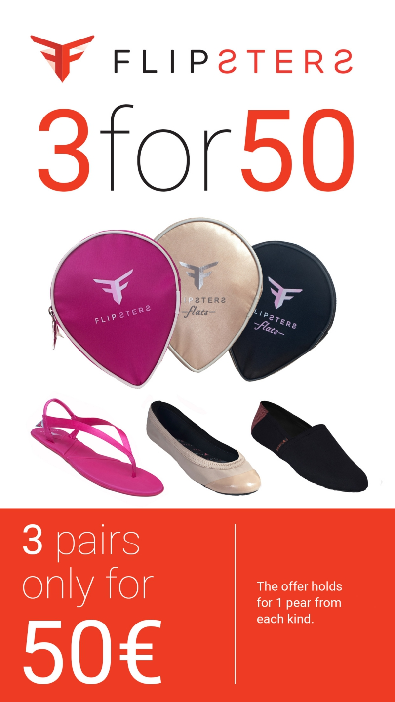 Flipsters Offer - 3 Pairs for only 50€